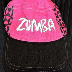 Zumba checkered hot pink and black cap